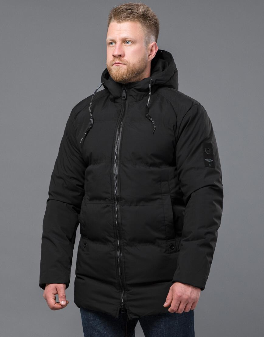 Черная куртка модная зимняя модель 70911 фото 3