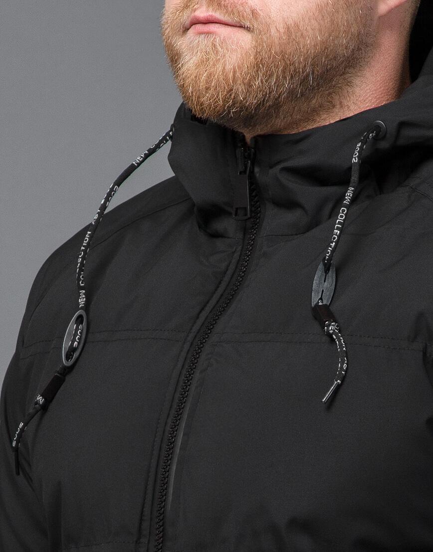Черная куртка модная зимняя модель 70911 фото 5