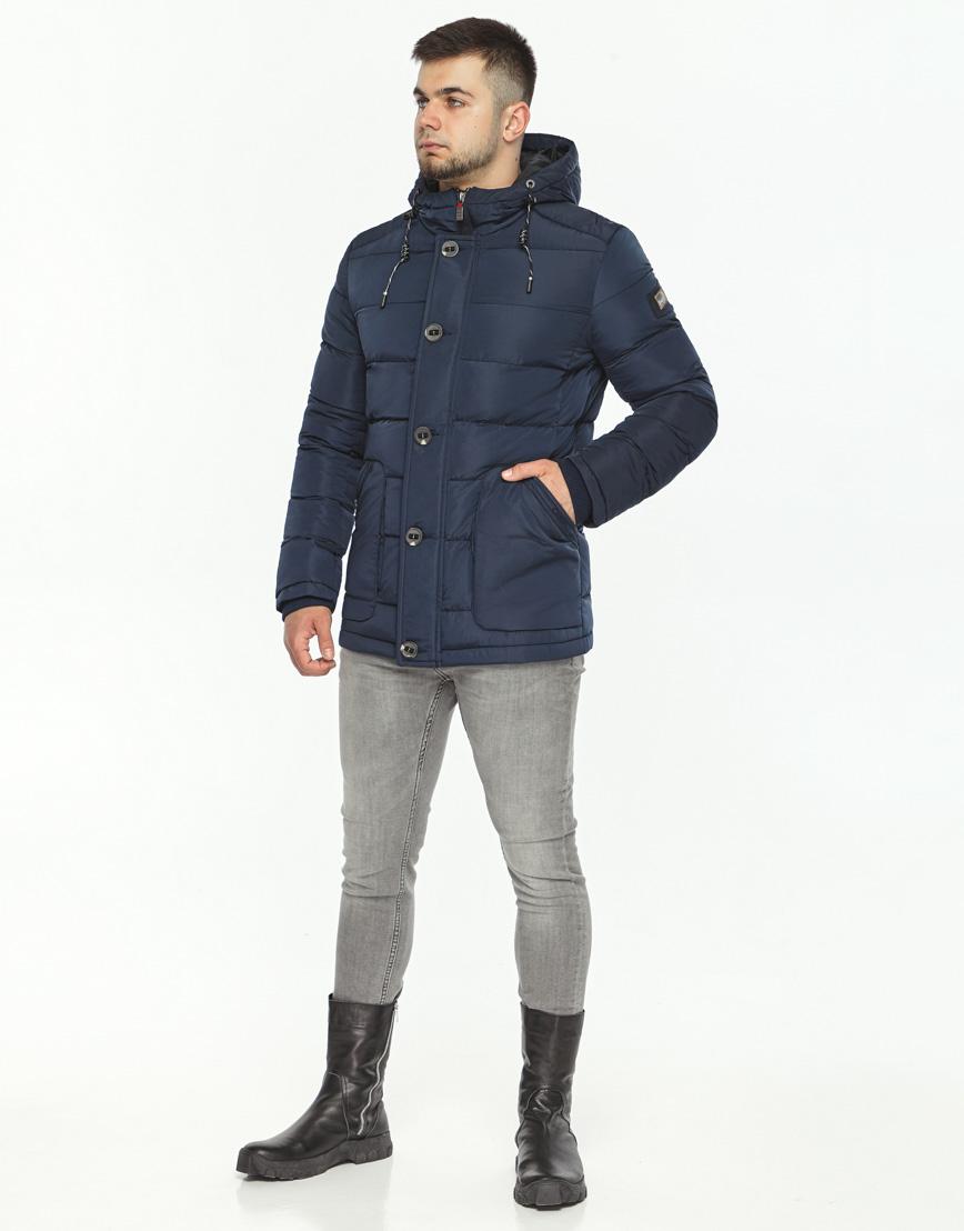 Синяя куртка на зиму модель 44516 фото 2