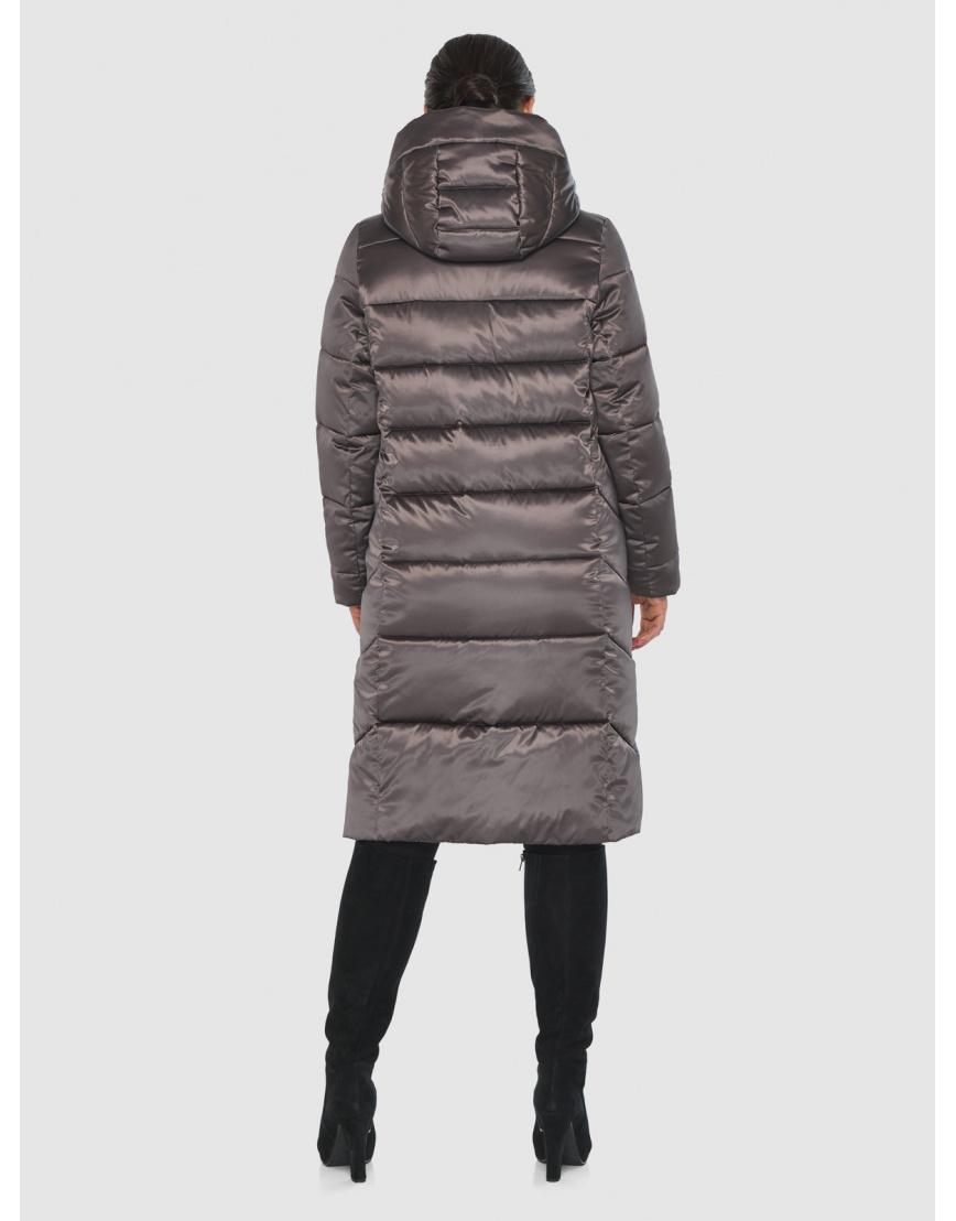 Комфортная длинная куртка женская Wild Club цвет капучино 541-94 фото 4