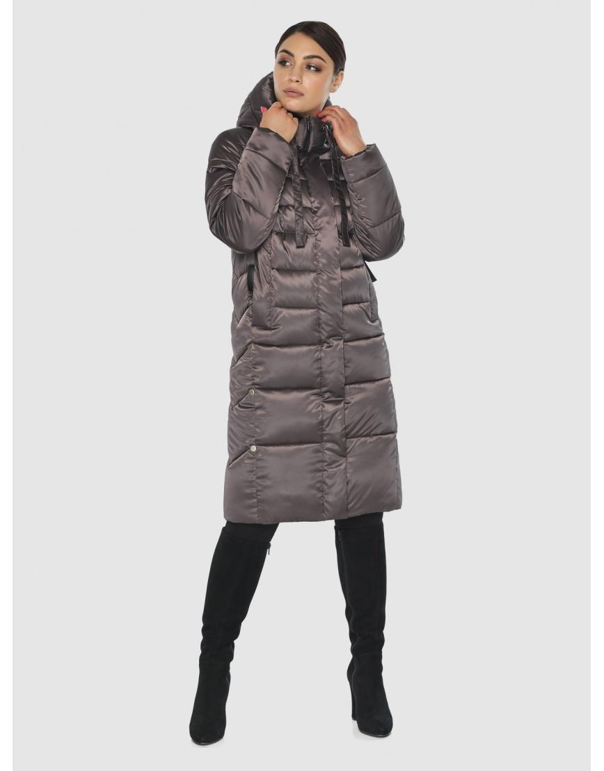 Комфортная длинная куртка женская Wild Club цвет капучино 541-94 фото 6