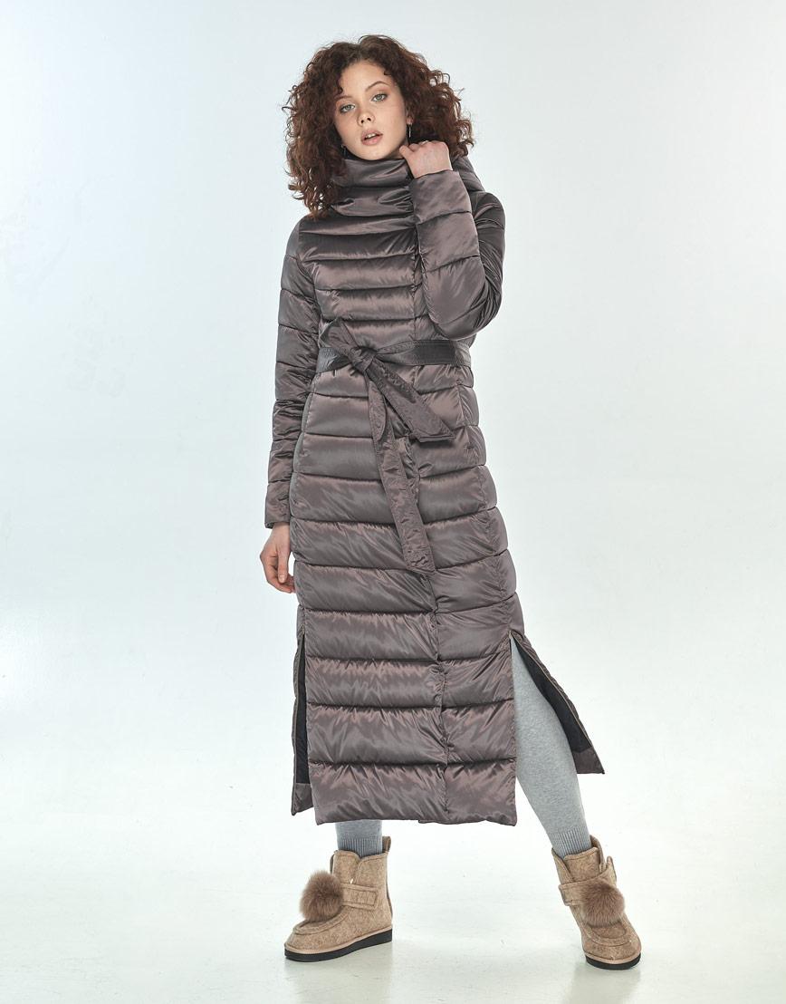 Комфортная куртка большого размера Moc женская цвет капучино M6210 фото 2