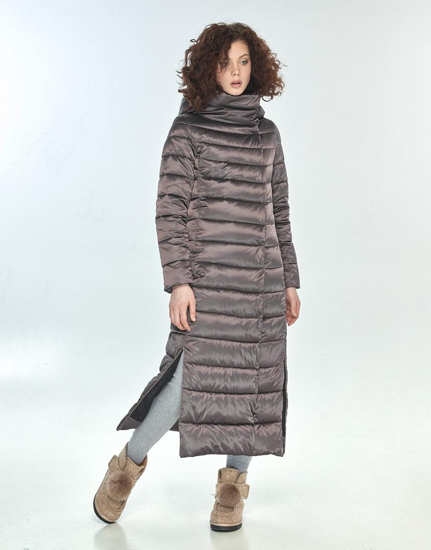 Комфортная куртка большого размера Moc женская цвет капучино M6210 фото 1