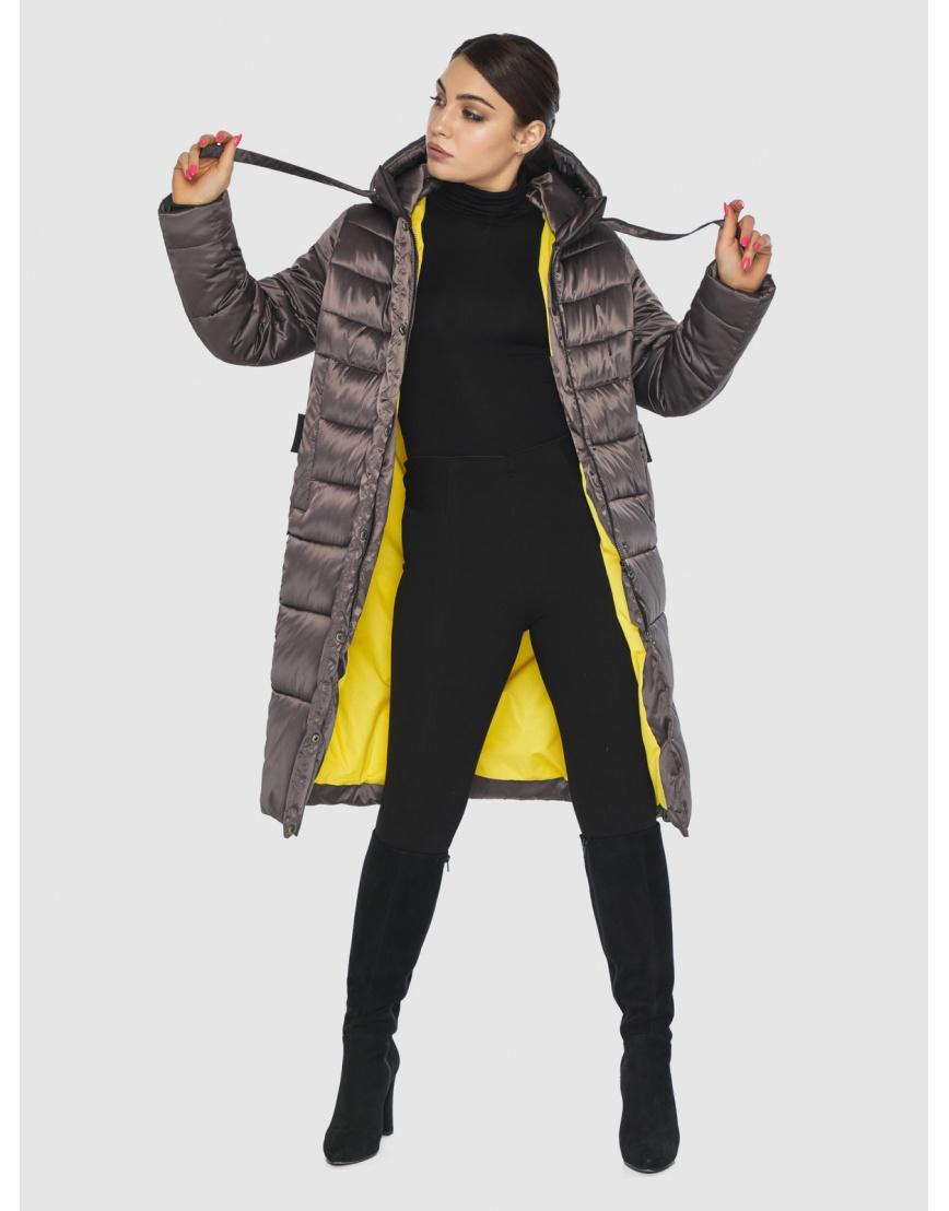 Комфортная длинная куртка женская Wild Club цвет капучино 541-94 фото 2