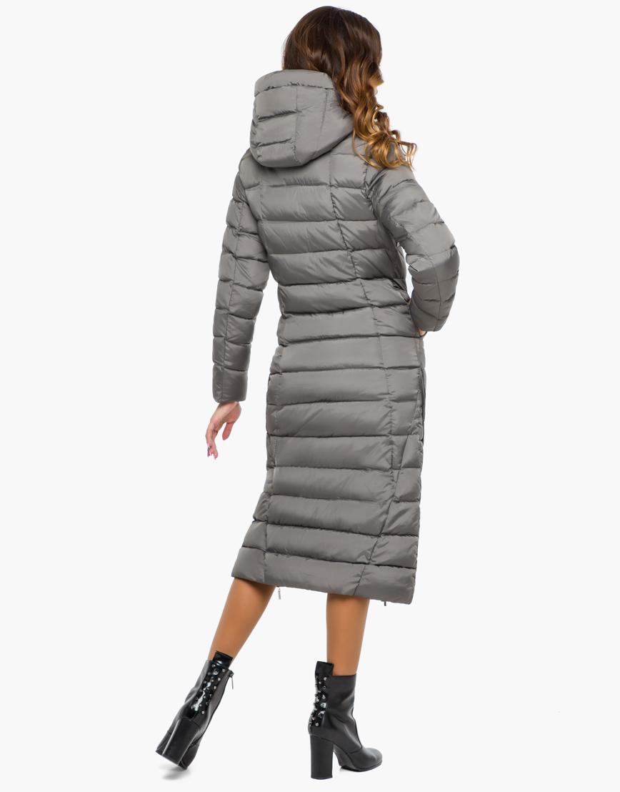 Женская серая качественная куртка модель 7789 фото 4