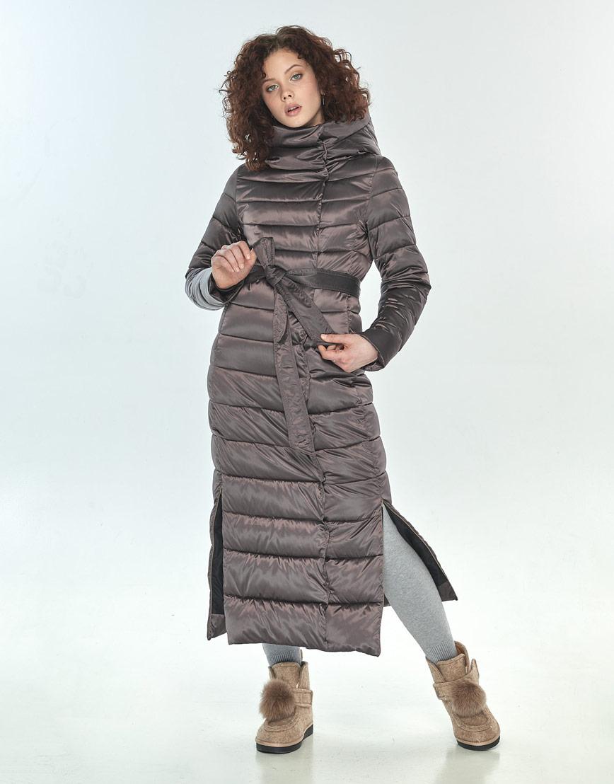 Куртка Moc капучиновая женская на зиму M6210 фото 2