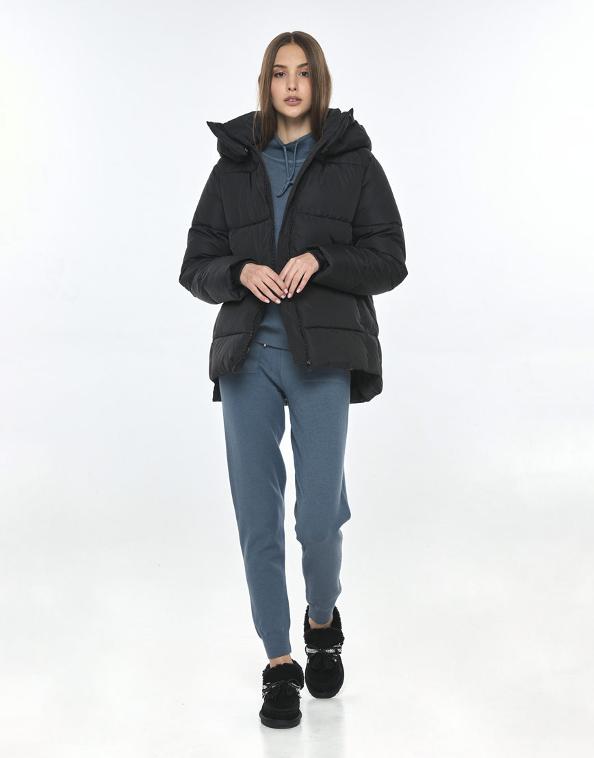 Фирменная чёрная куртка Vivacana женская 7354/21 фото 2