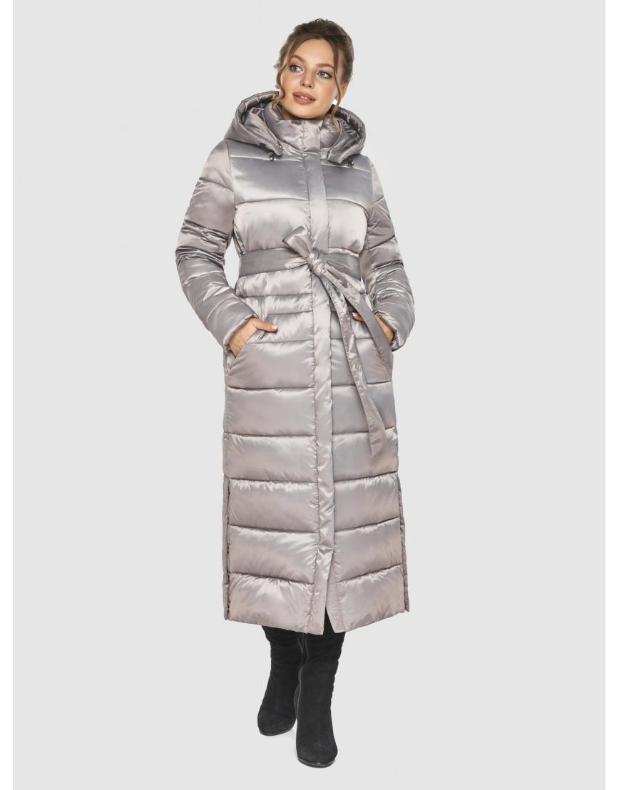 Удлинённая зимняя подростковая куртка Ajento кварцевая 21207 фото 2