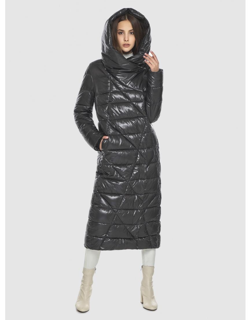 Трендовая женская куртка Vivacana серая 9470/21 фото 5