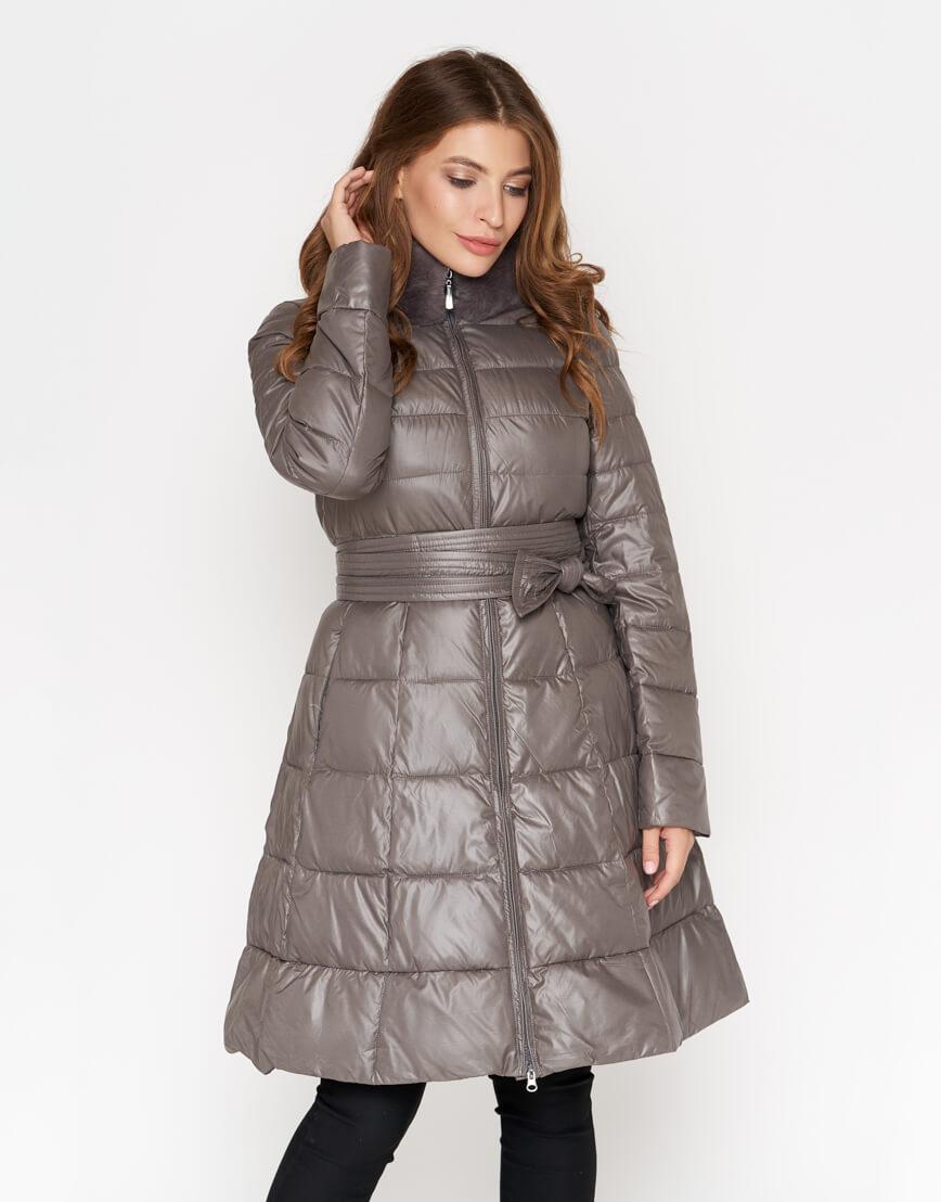 Серая куртка брендовая женская модель 7319 фото 1