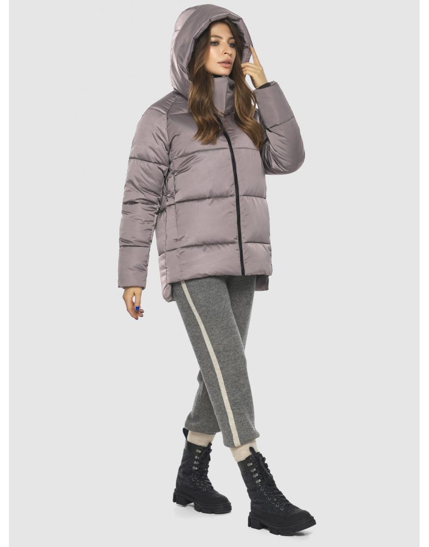 Стильная женская куртка Ajento цвет пудра 22430 фото 3