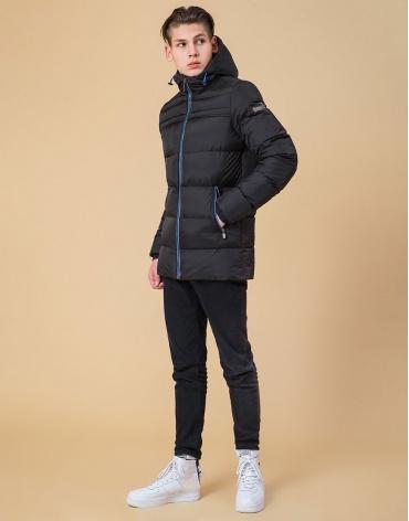 Куртка подростковая оригинальная цвет черный-электрик модель 71293 фото 1