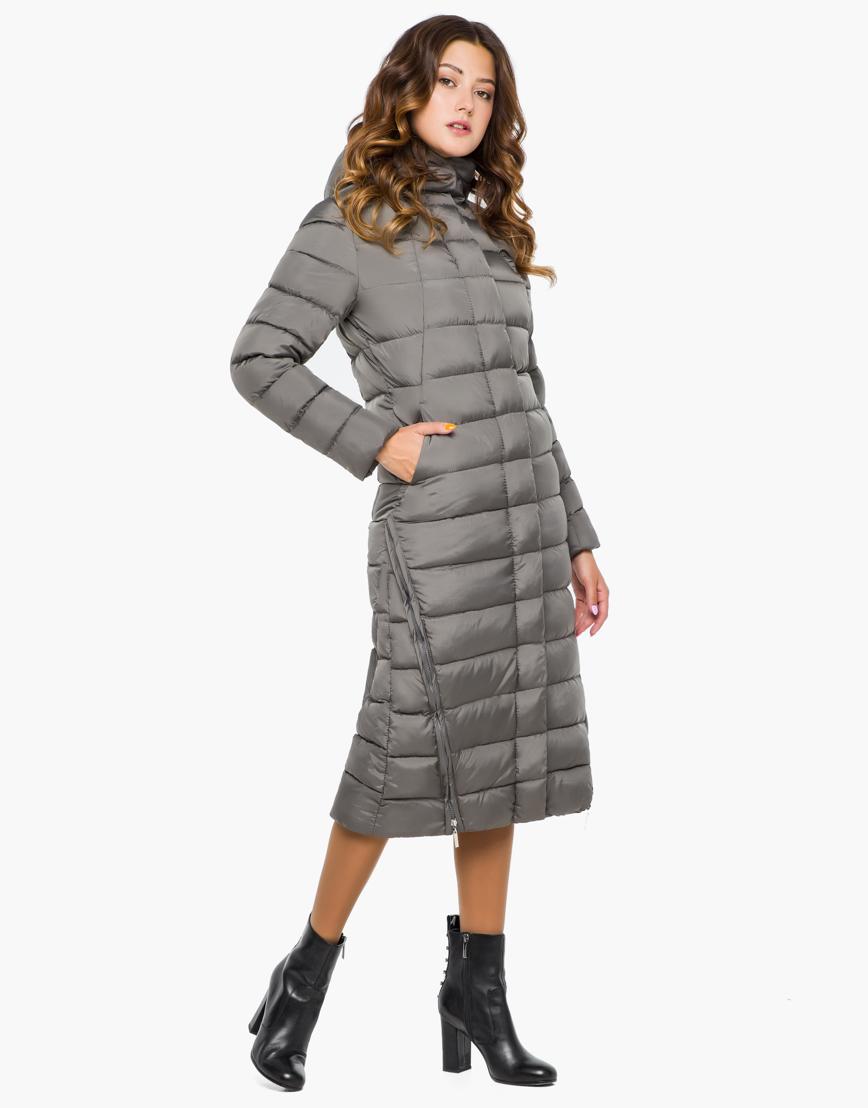 Женская серая качественная куртка модель 7789 фото 2