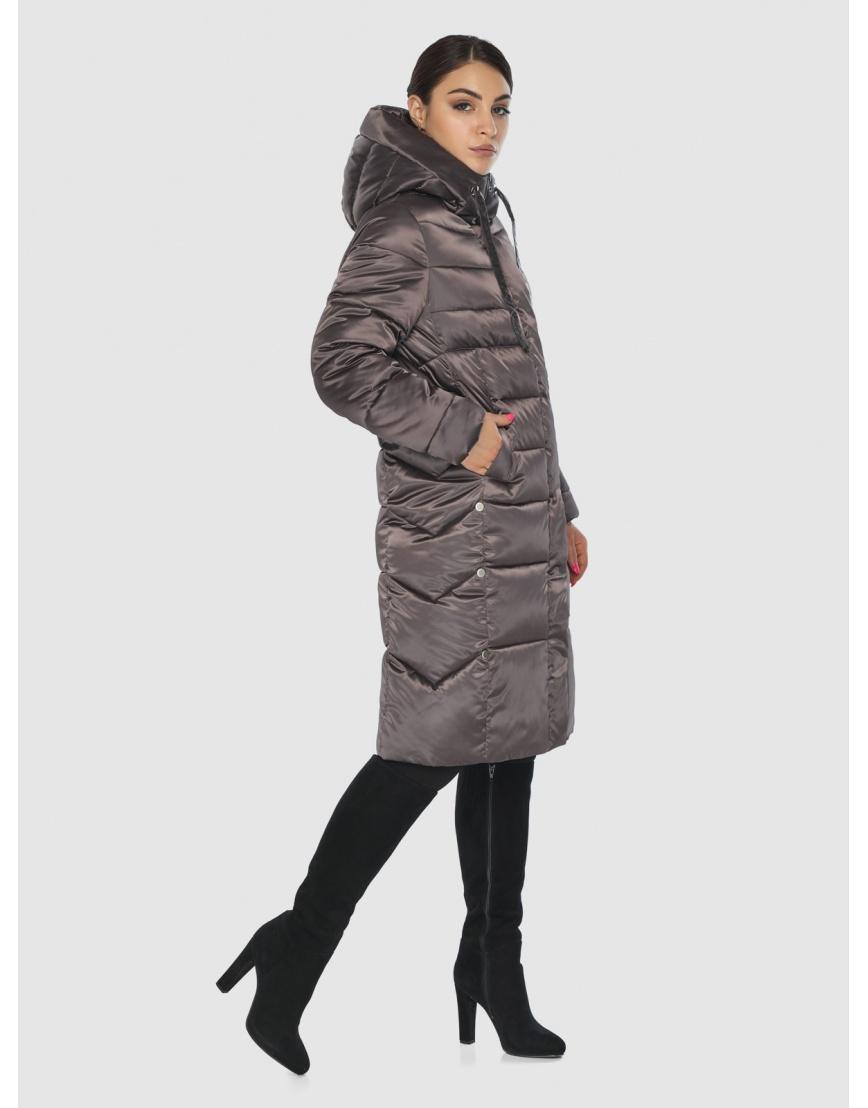 Комфортная длинная куртка женская Wild Club цвет капучино 541-94 фото 3