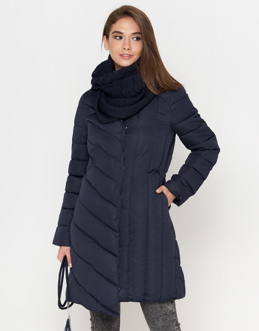Куртка женская синяя с кнопками модель 9082 фото 2