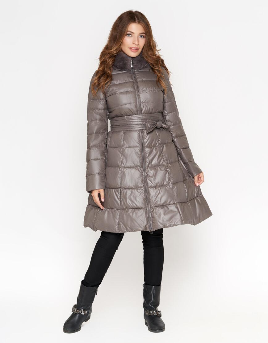 Серая куртка брендовая женская модель 7319 фото 2
