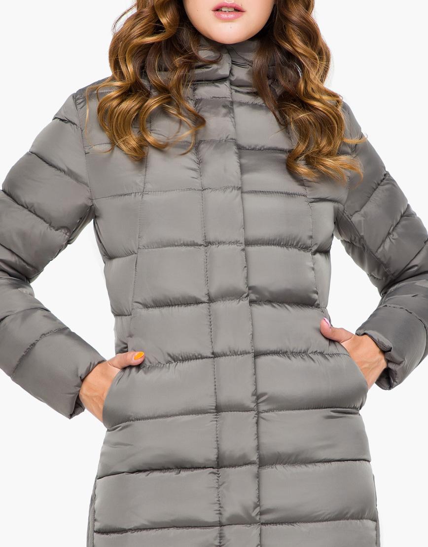 Женская серая качественная куртка модель 7789 фото 5