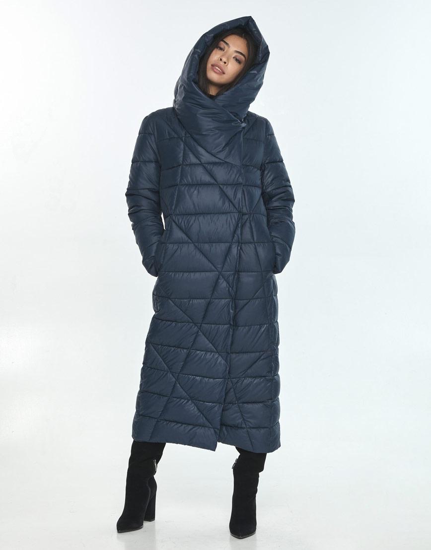 Практичная куртка женская синяя Moc на зиму M6715 фото 2