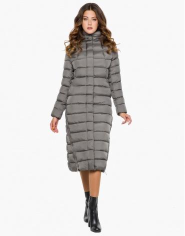 Женская серая качественная куртка модель 7789