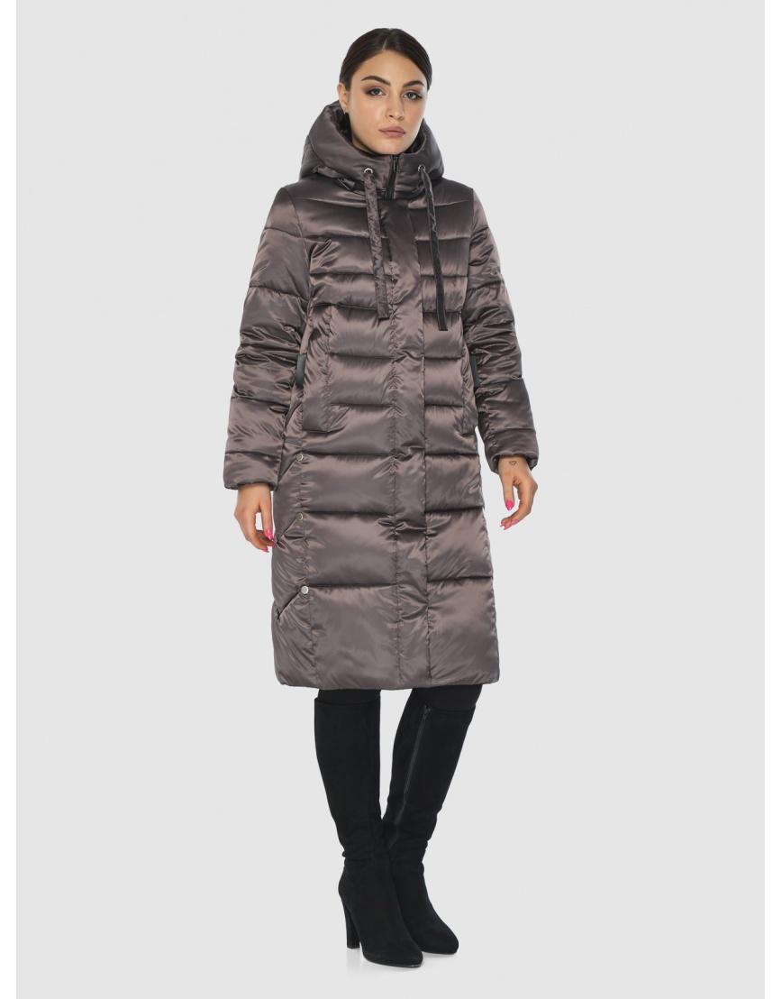 Комфортная длинная куртка женская Wild Club цвет капучино 541-94 фото 5