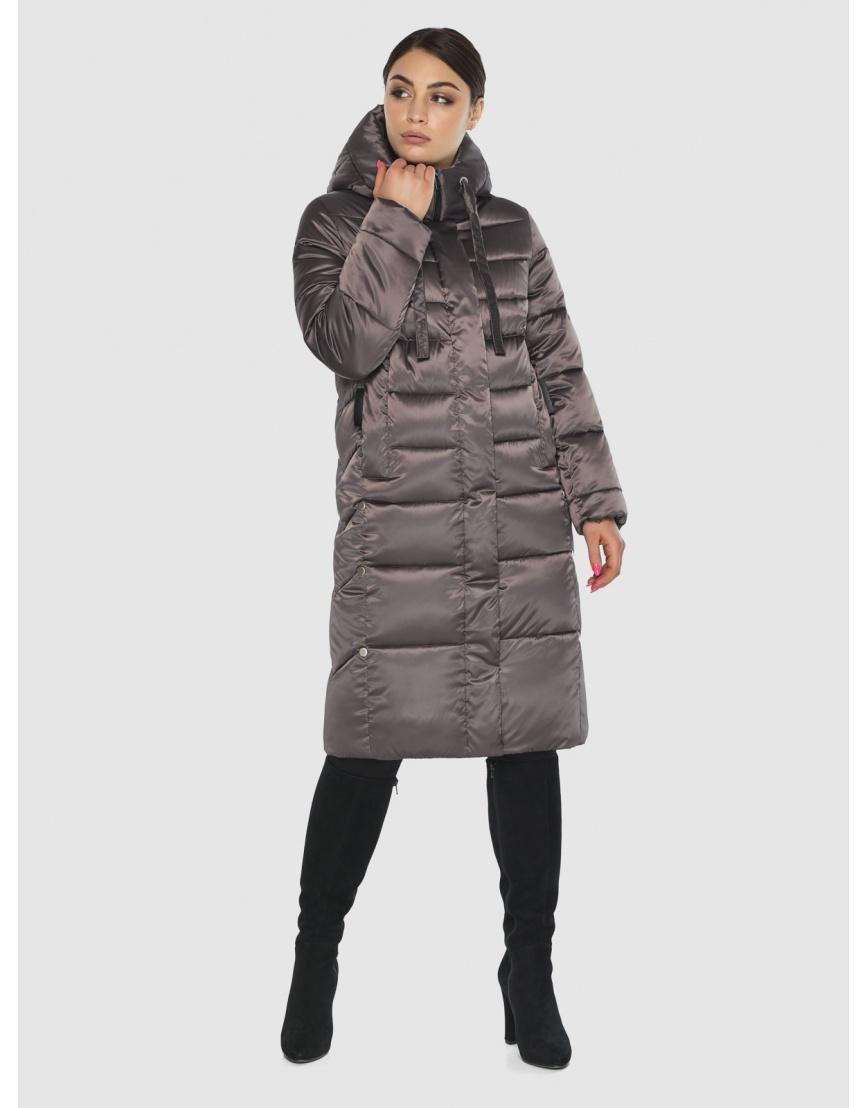 Комфортная длинная куртка женская Wild Club цвет капучино 541-94 фото 1