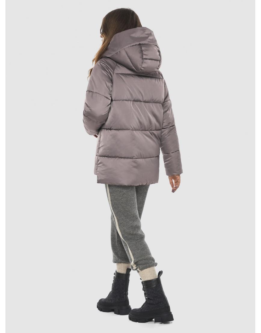 Стильная женская куртка Ajento цвет пудра 22430 фото 4