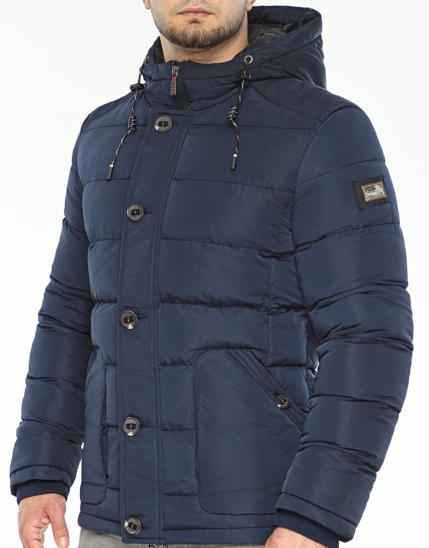 Синяя куртка на зиму модель 44516 фото 5