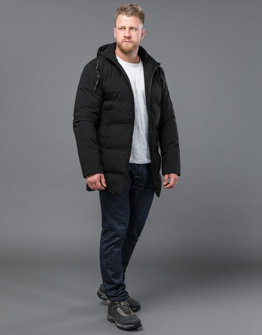 Черная куртка модная зимняя модель 70911 фото 1