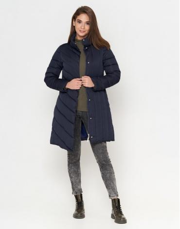 Куртка женская синяя с кнопками модель 9082 фото 1
