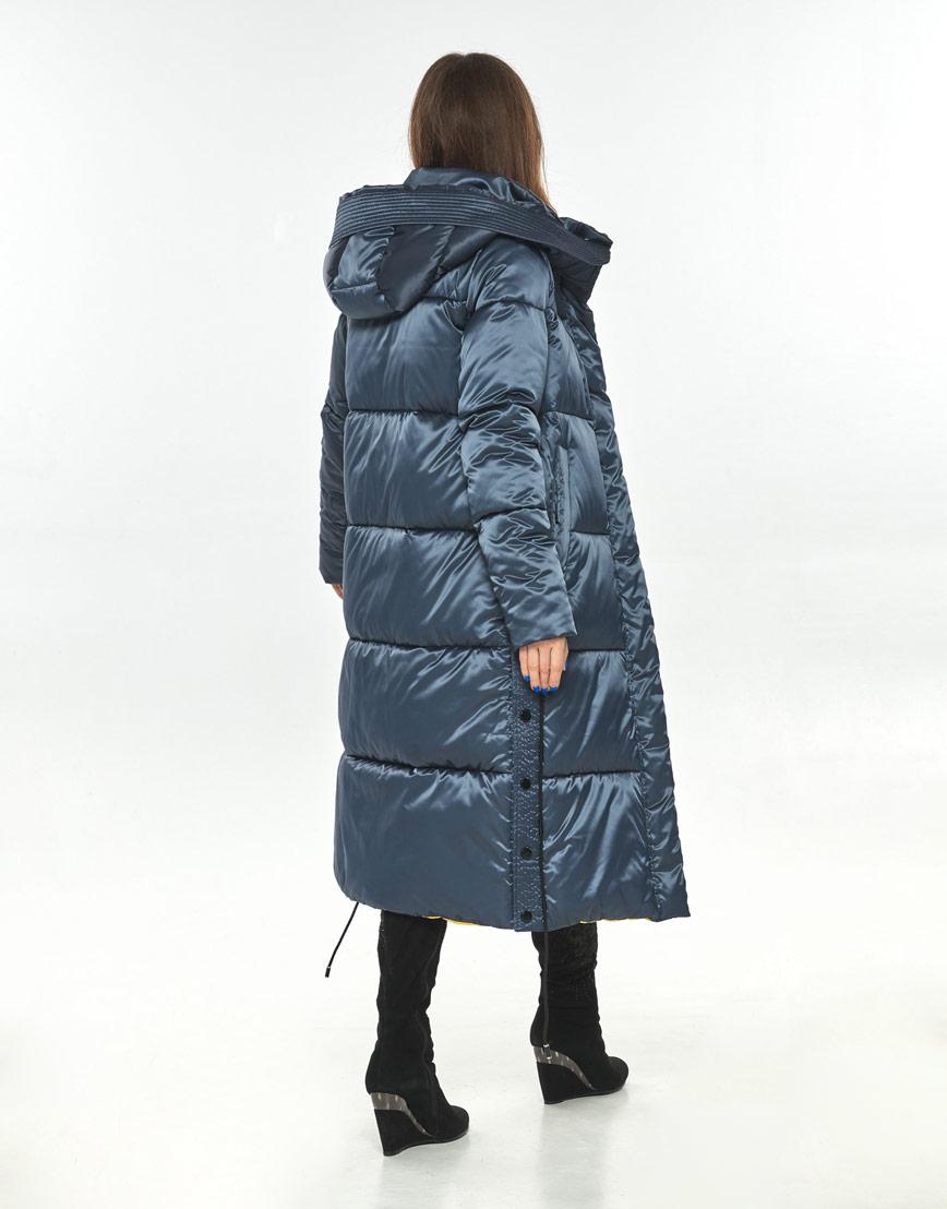 Зимняя куртка синяя женская Ajento стильная 23160 фото 3