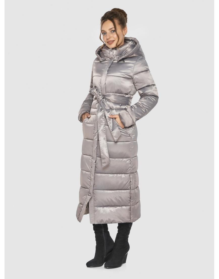 Удлинённая зимняя подростковая куртка Ajento кварцевая 21207 фото 6