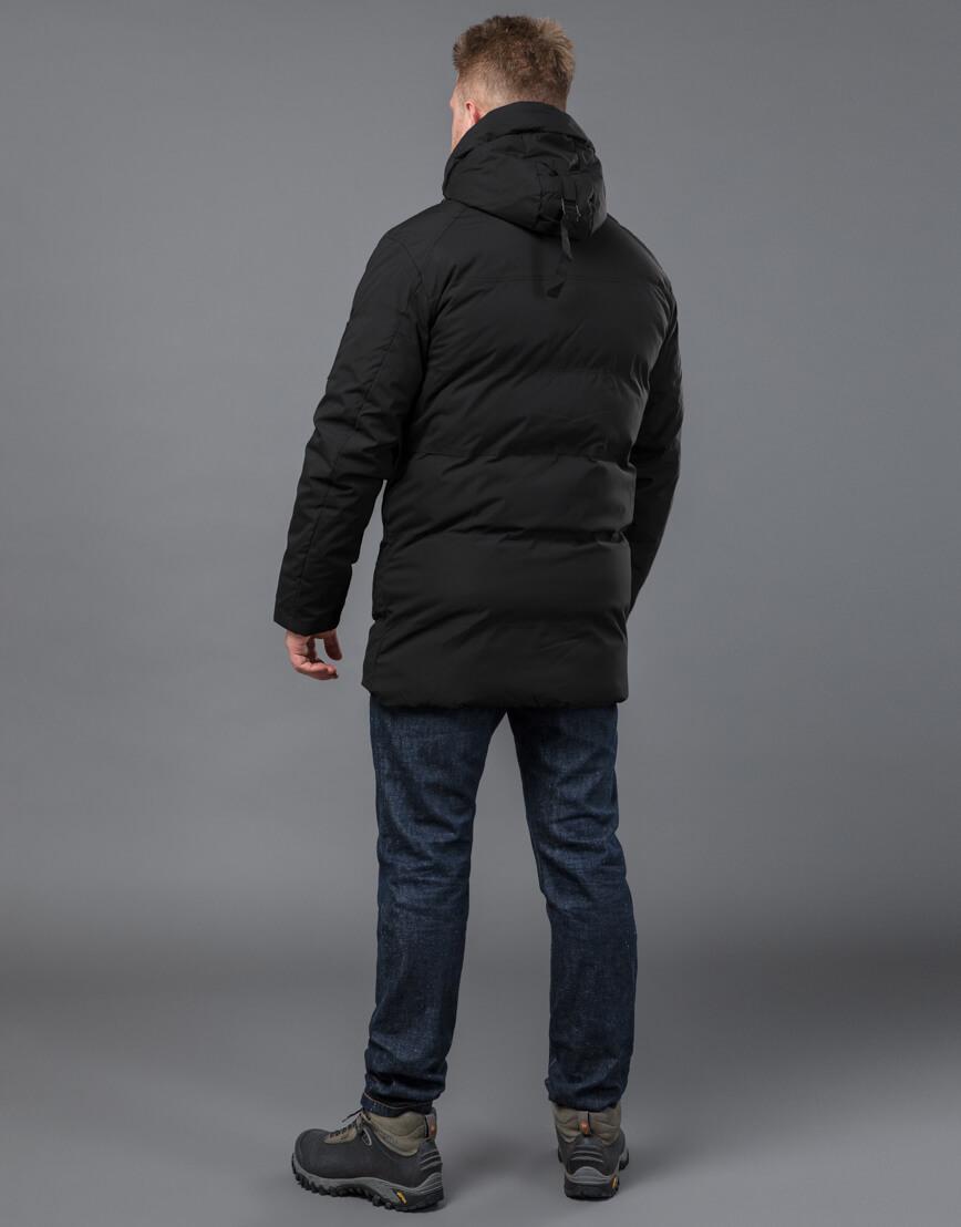 Черная куртка модная зимняя модель 70911 фото 4