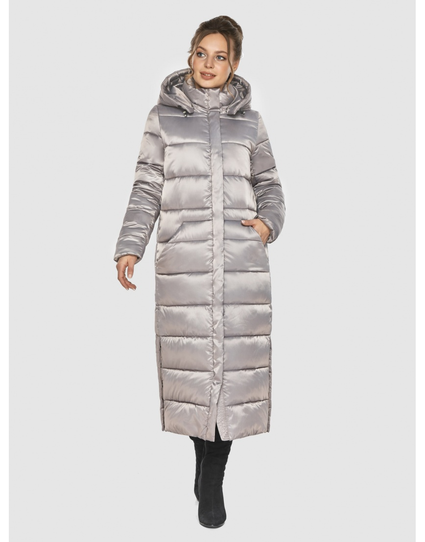 Удлинённая зимняя подростковая куртка Ajento кварцевая 21207 фото 1