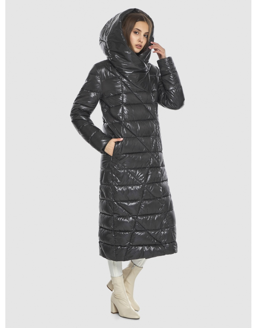 Трендовая женская куртка Vivacana серая 9470/21 фото 3