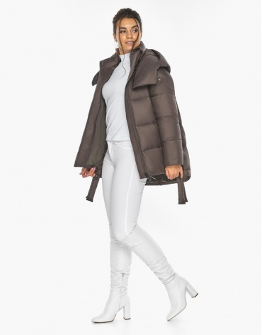 Воздуховик женский Braggart стильный зимний цвет капучино модель 43070 фото 1