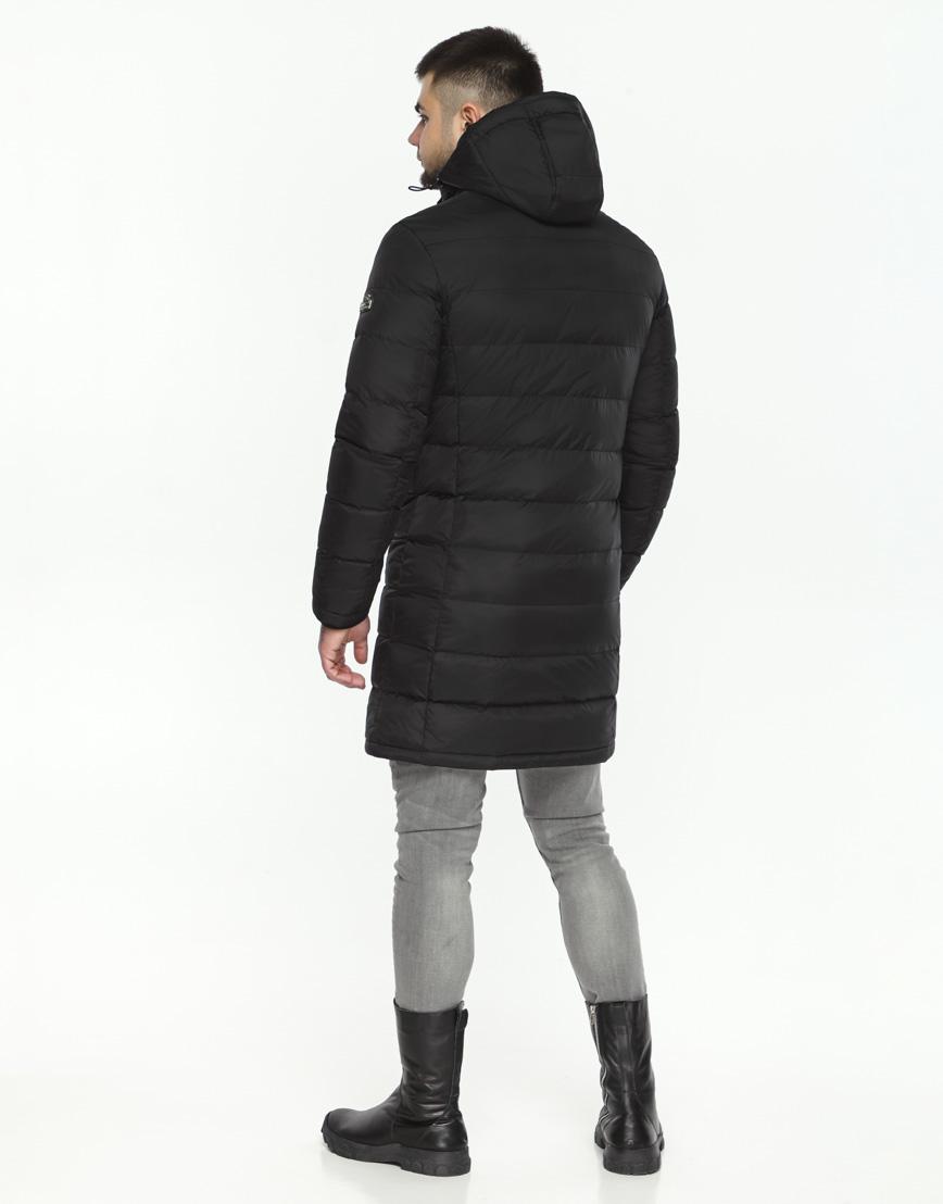 Мужская куртка черная трендовая модель 35680