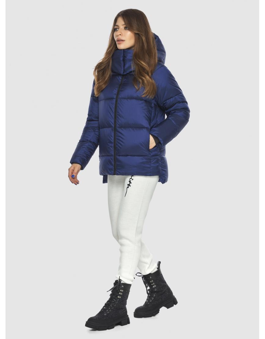 Синяя модная куртка женская Ajento 22430 фото 5