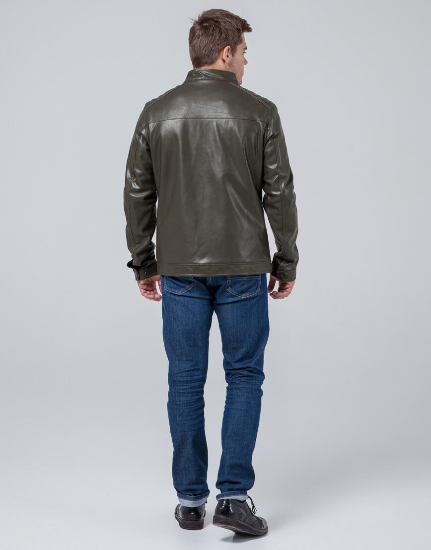 Фирменная куртка молодежная цвета хаки модель 4834 фото 4