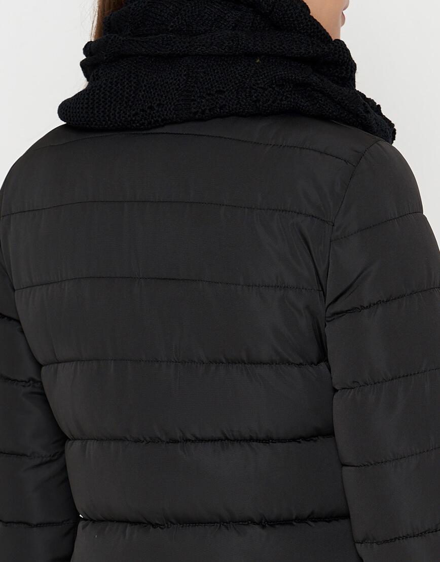 Черная теплая женская куртка модель 9082 фото 6