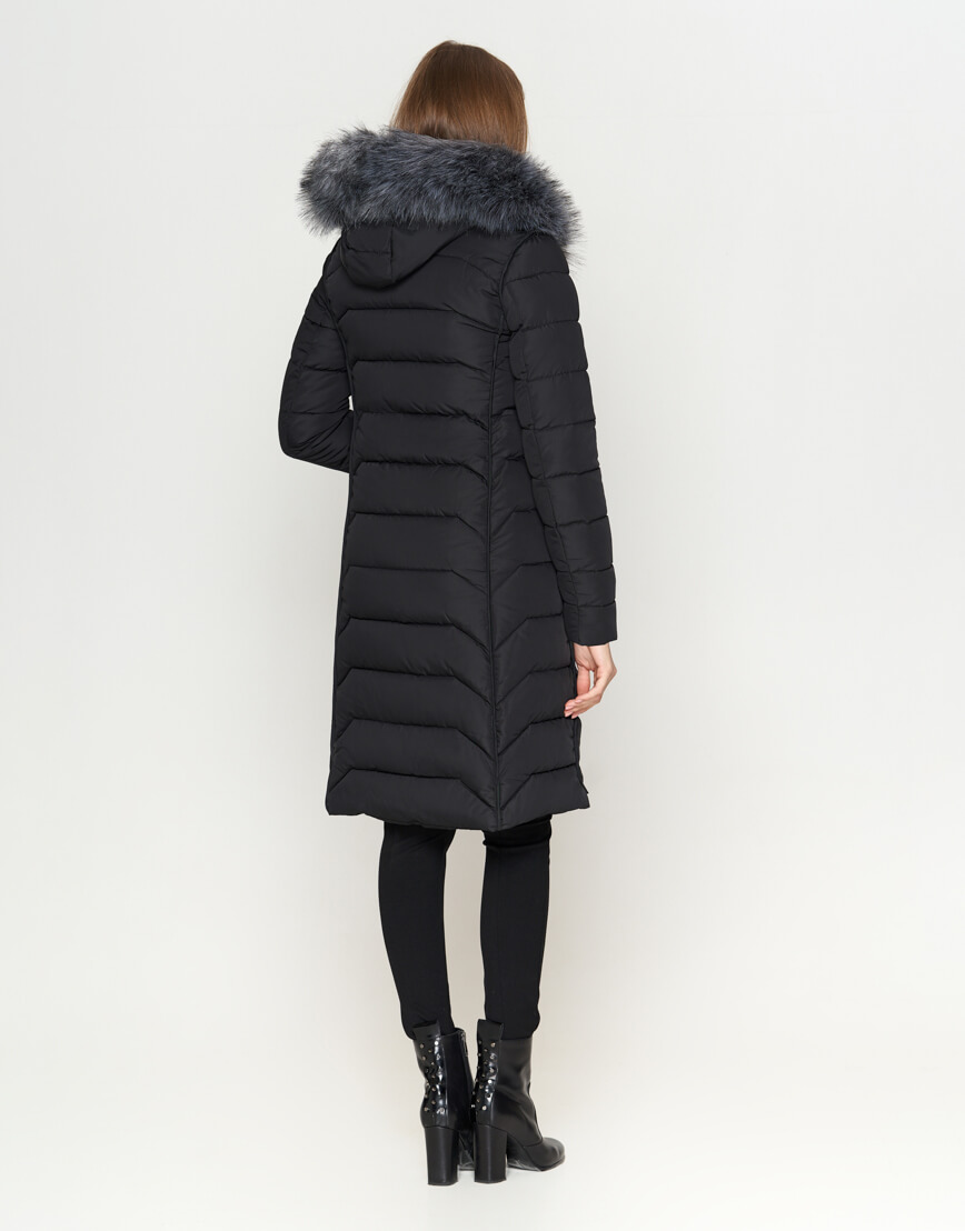 Куртка женская качественного пошива черная модель 6617 фото 4