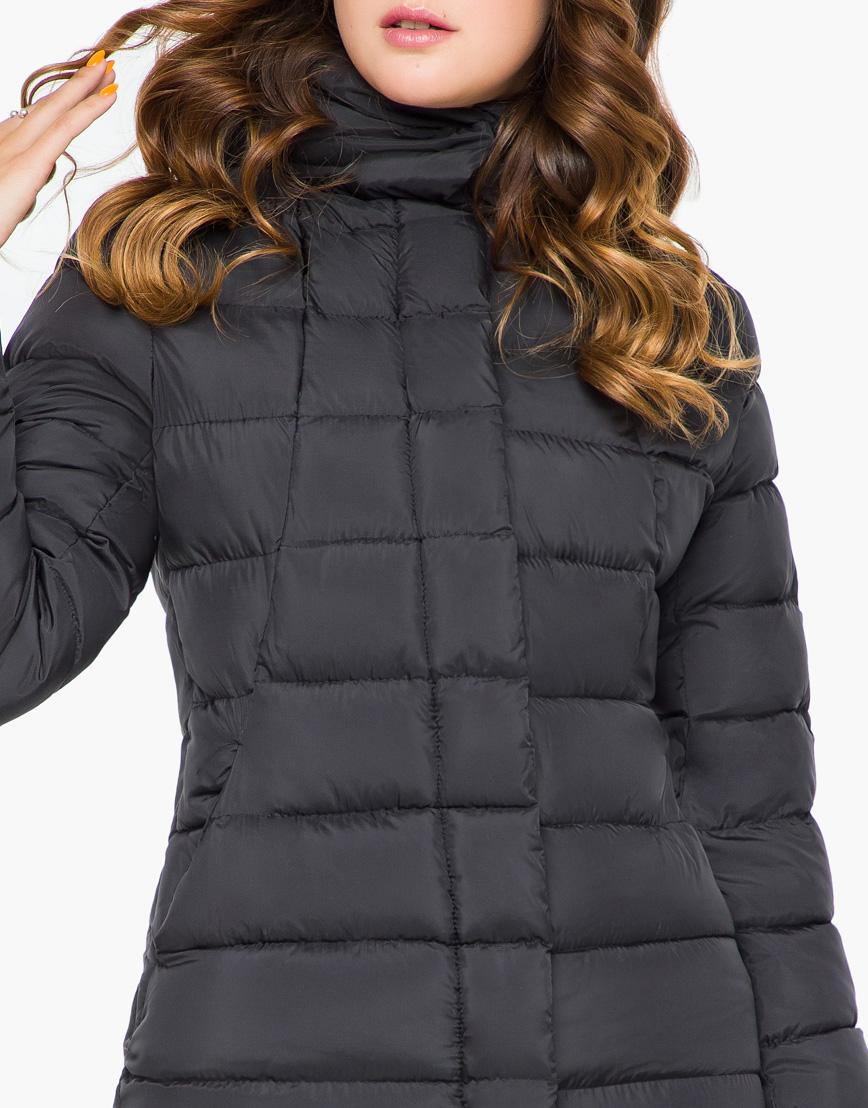 Куртка женская черная с карманами модель 7789