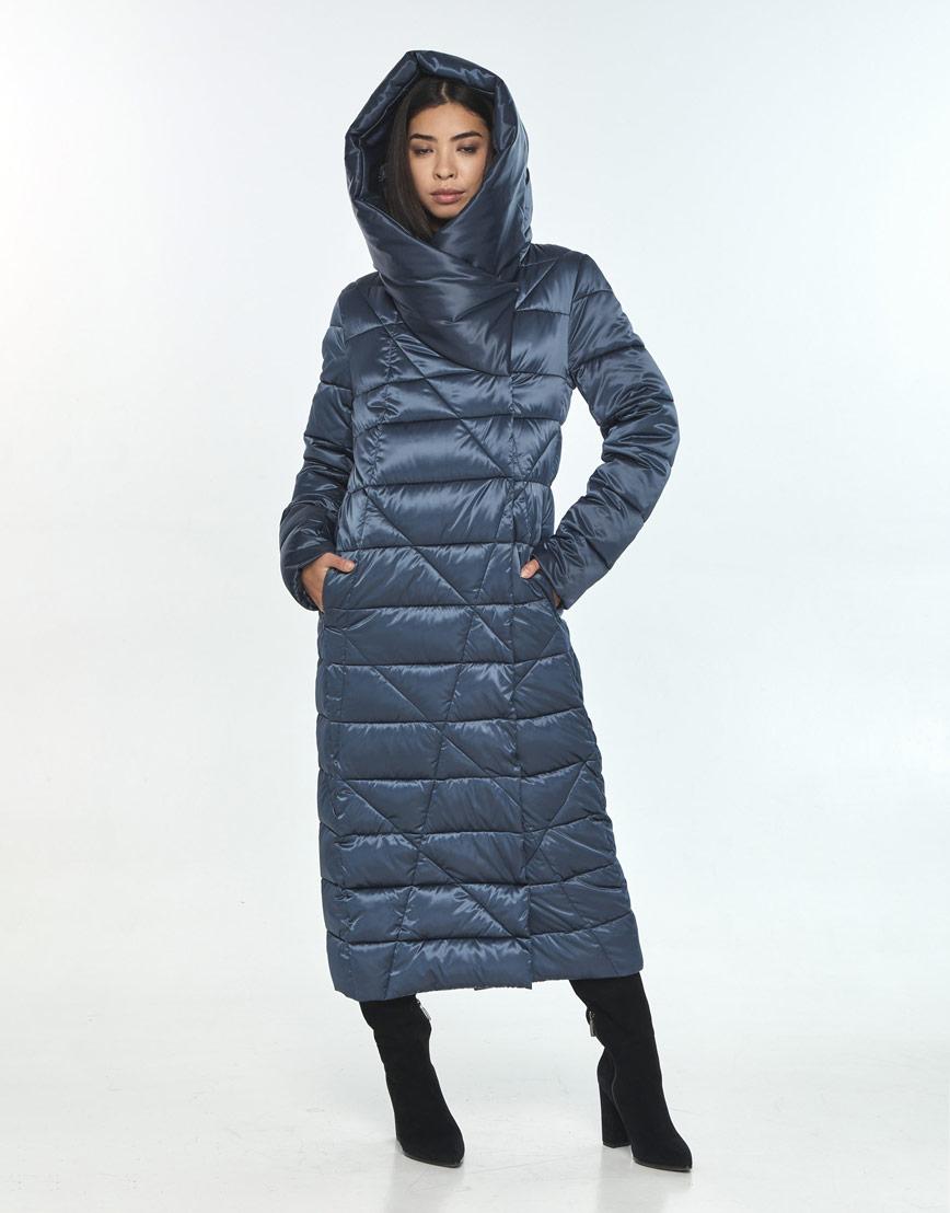 Комфортная зимняя куртка женская Moc цвет синий M6715 фото 2