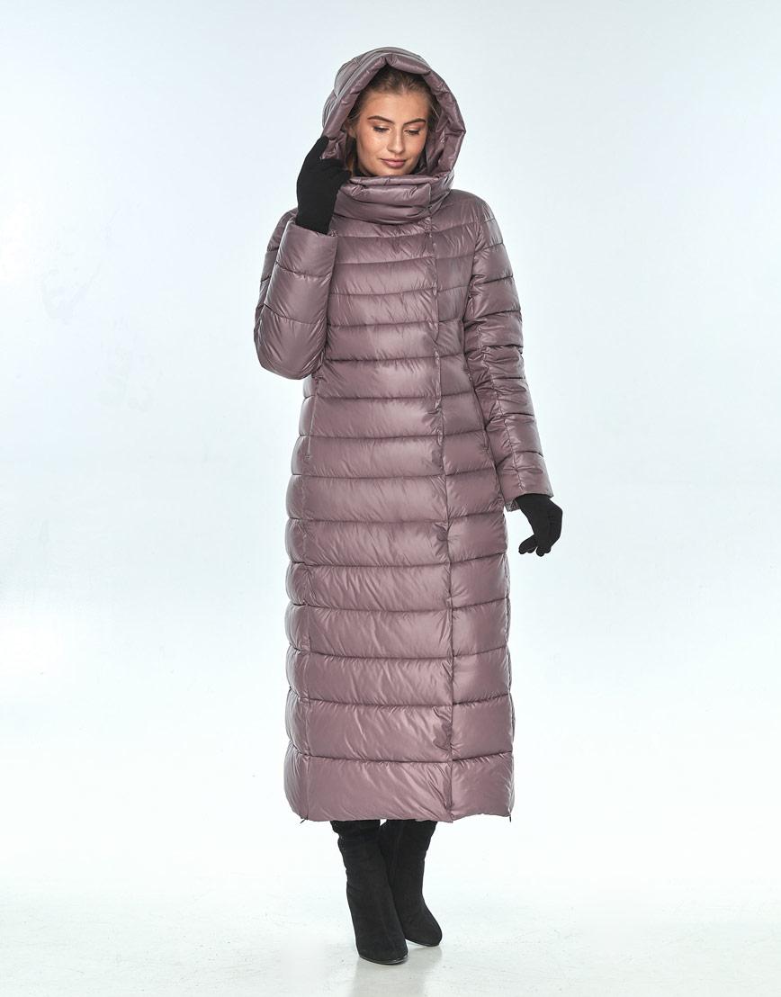 Женская длинная куртка Ajento зимняя пудровая 23320 фото 1