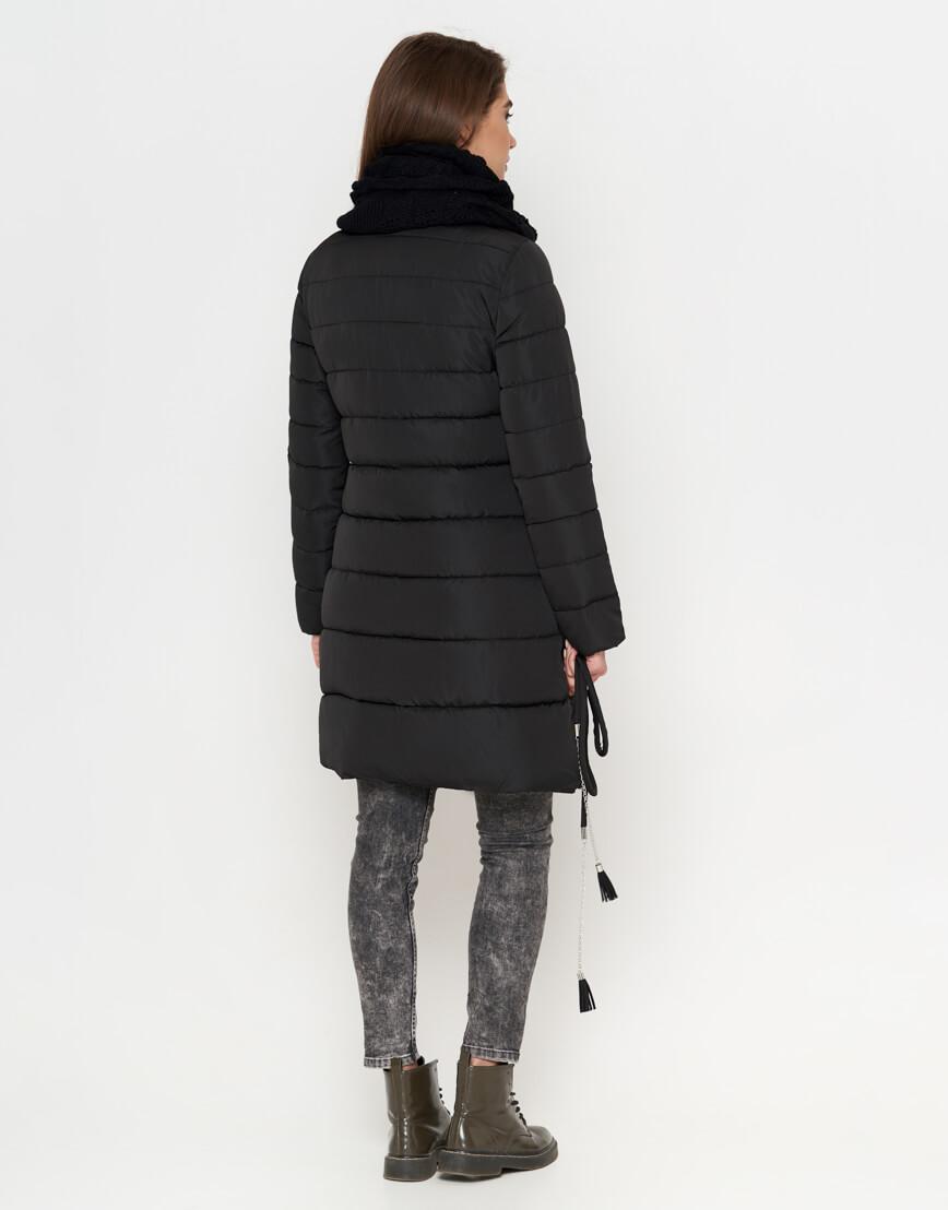 Черная теплая женская куртка модель 9082 фото 4