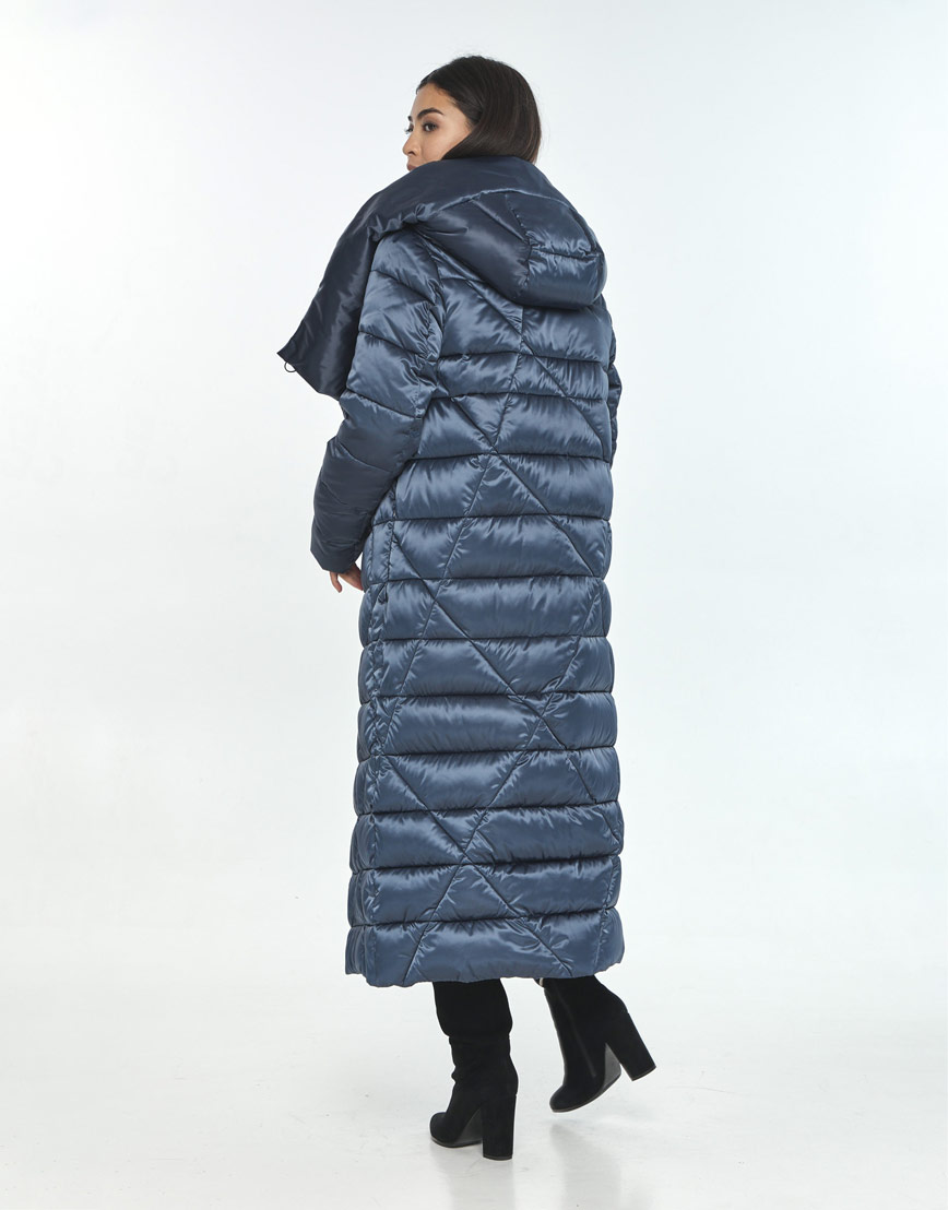 Комфортная зимняя куртка женская Moc цвет синий M6715 фото 3