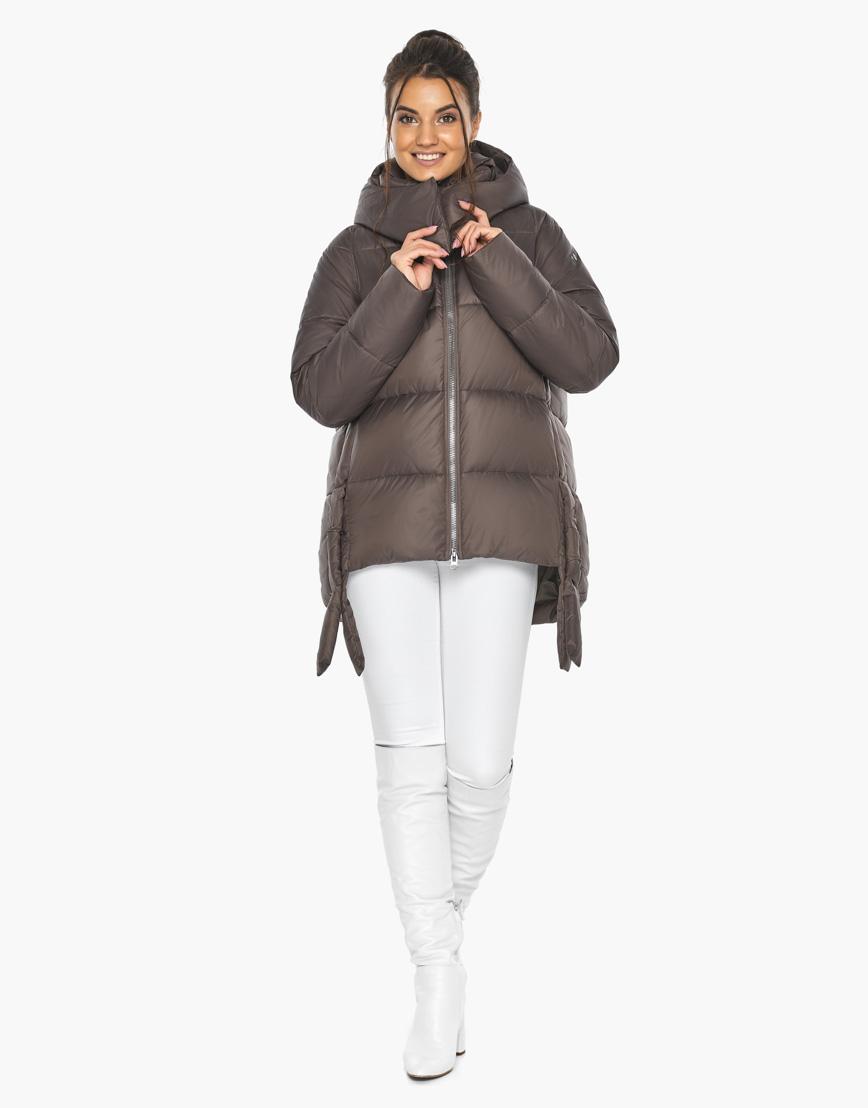 Воздуховик женский Braggart стильный зимний цвет капучино модель 43070 фото 2