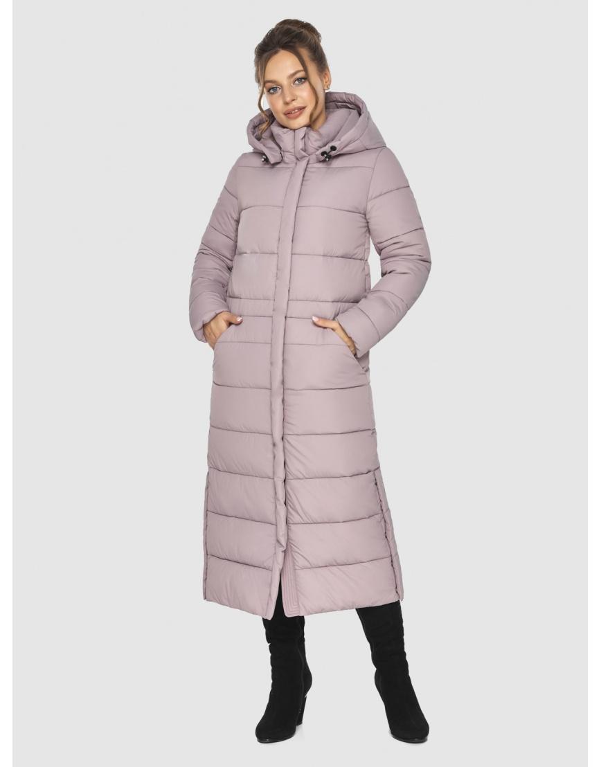 Тёплая пудровая куртка Ajento подростковая зимняя 21207 фото 2