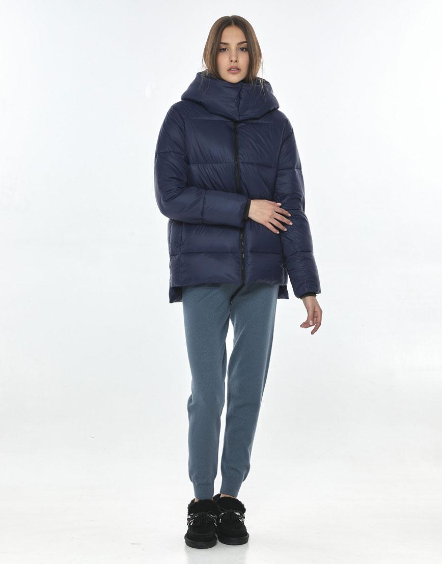 Куртка стильная синяя женская Vivacana 7354/21 фото 2
