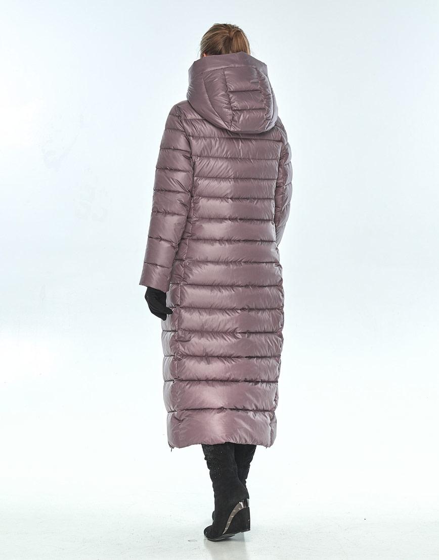 Женская длинная куртка Ajento зимняя пудровая 23320 фото 3