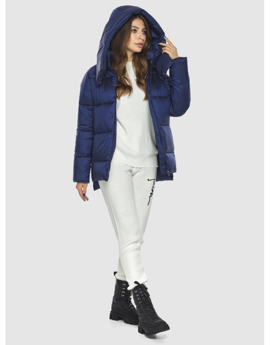 Синяя модная куртка женская Ajento 22430 фото 6